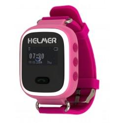 Helmer LK702 - dětské hodinky s GPS lokátorem růžové