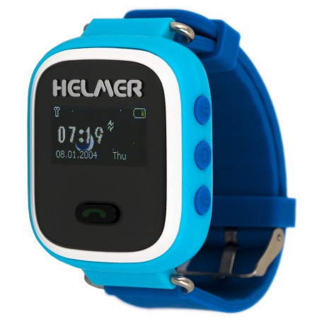 Helmer LK702 - dětské hodinky s GPS lokátorem modré
