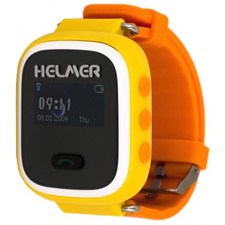 Helmer LK702 - dětské hodinky s GPS lokátorem žluté