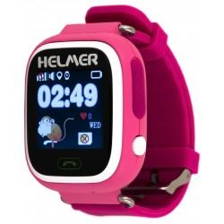 Helmer LK703 - dětské hodinky s GPS lokátorem růžové, dotykový display