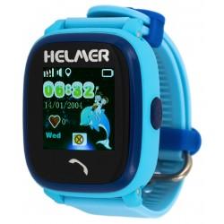 Helmer LK704 modré - dětské hodinky s GPS lokátorem, vodotěsné, dotykový display
