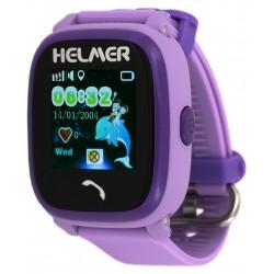 Helmer LK704 fialové - dětské hodinky s GPS lokátorem, vodotěsné, dotykový display