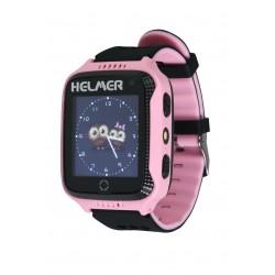 Helmer LK707 - dětské hodinky s GPS lokátorem růžové, dotykový display