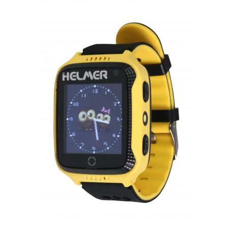 Helmer LK707 - dětské hodinky s GPS lokátorem žluté, dotykový display