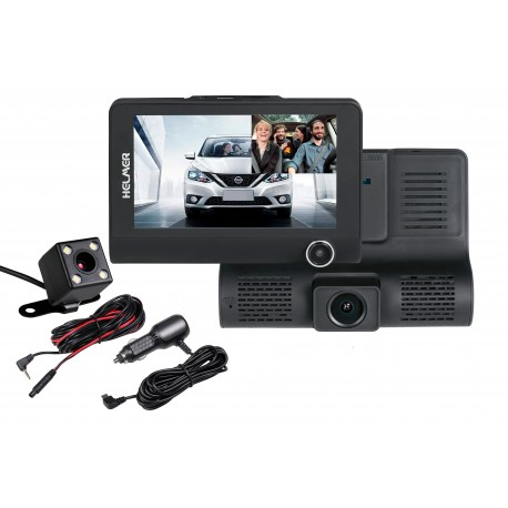 Kamera do auta (černá skříňka) - Helmer Carcam Triple HD