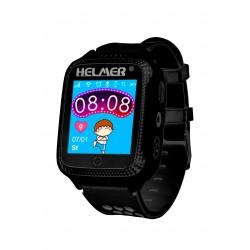 Helmer LK 707 - dětské hodinky s GPS lokátorem černé, dotykový display